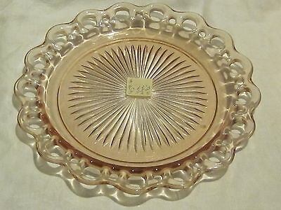 Hocking Glass Old Colony Pink Dinner Plates (4)