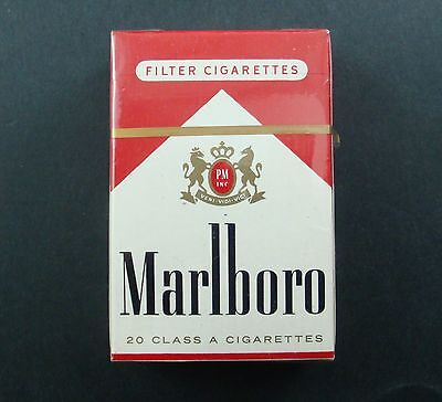 Paquet 20 Cigarettes Marlboro Philip Morris Tobacco Tabacs Ancien Pack Old Usa