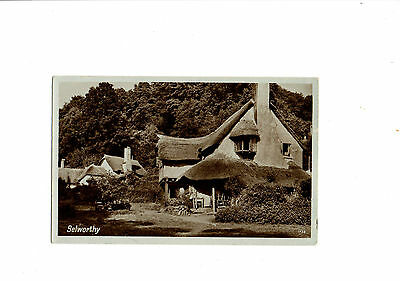 Black & White Postcard of Selworthy, Somerset. 1930's.