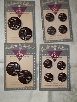 Vintage Bakelite Brown Cutout Buttons  New On Card
