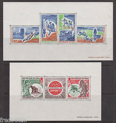 Mali - 1972 Olympics stamps & sheetlets and Cent. Afr. Rep. 2 sheetlets & stamps