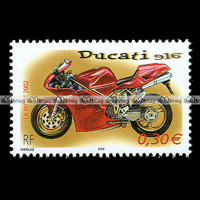 ★ DUCATI 916 ★ FRANCE Timbre Poste Moto Sport Motorcycle Stamp Sello #123