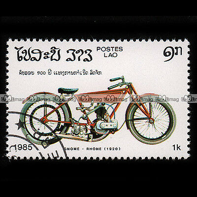 ★ GNOME & RHONE 500 1920 ★ LAO LAOS Timbre Moto / Motorcycle Stamp #174