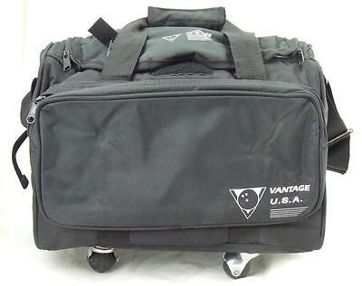 Vantage Pull Along Roller Black Single Tenpin Bowling Ball and Shoes Bag - New