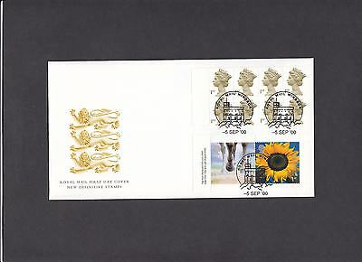 2000 Millenium Retail booklet both panes on Royal Mail FDC Windsor H/S