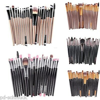 20tlg Professionelle Make up Pinsel Set Kosmetik Pinsel Schminkpinsel Brush Set