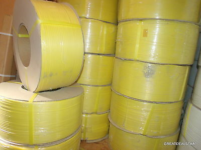 """Poly Strap Plastic Strapping 1/4"""" x 0.22 x 18,000 Ft 8 x 8 Machine Grade Roll"""