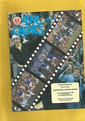 League Cup 3rd Round Replay Portsmouth v Bristol Rovers 1980