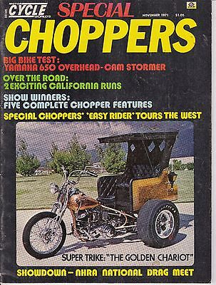 Motor Cycle World Special Choppers Motorcycle Magazine NOVEMBER 1971 NOV