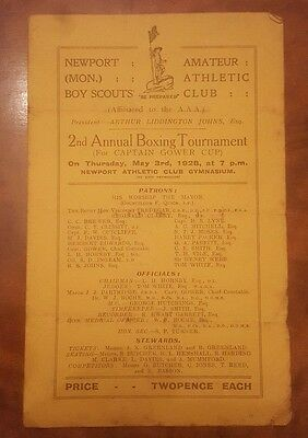 Newport Boy Scouts Amateur Athletic Club Boxing Tournament May 1928