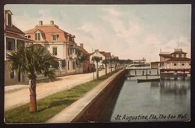 St. Augustine, Fla. The Sea Wall. The Hugh C. Leighton Co. 2040