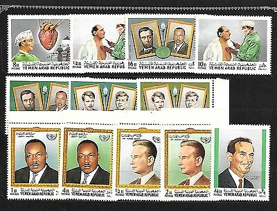 YEMEN Sc 256-6K NH ISSUE OF 1968 - JFK - M.L.KING