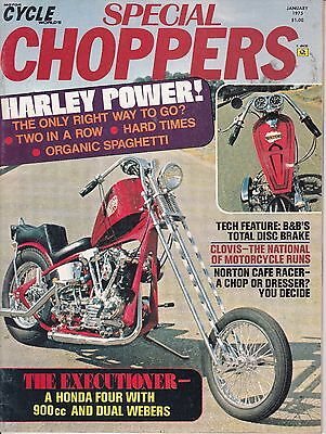 Motor Cycle World Special Choppers Motorcycle Magazine JANUARY 1975 JAN