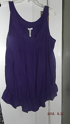 Women's Size Medium, Maternity Purple SleevelessTop-Old Navy