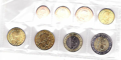 Euro Serie Luxembourg 2007 - 1 cent / 2 Euro - 8 coins - Uncirculated Condition