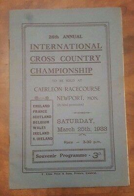 26th Annual Cross Championship Caerleon Racecourse Newport March 25 1933