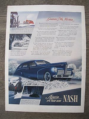 Automobile Advertisement 1940 Nash