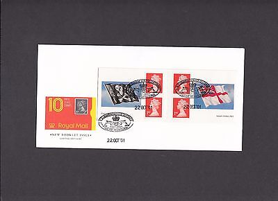 2001 Flags & Ensigns self adhesive booklet Faslane special handstamp