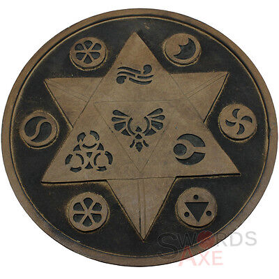 Hand Crafted Round Wooden Norse Viking Shield Celtic Symbols