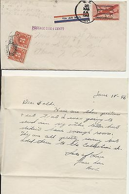 Postage Due Soldier Robert Murphy Letters home talking about life in China in 19