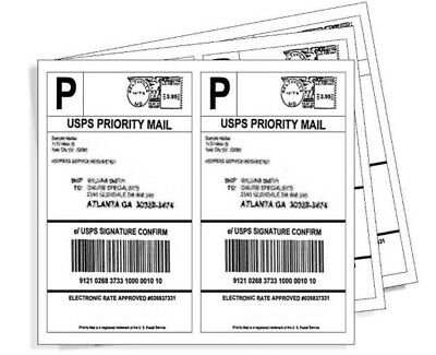BEST Premium BLANK Mailing Shipping Labels 8.5x5.5 USA Half Sheet Self Adhesive