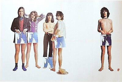 ROLLING STONES Vintage promotional poster for STICKY FINGERS 1971