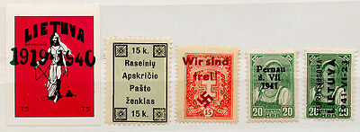 (I.B) Latvia Revenue : Duty Stamp/Cinderella Collection