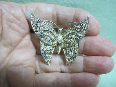 Vintage Alice Caviness Sterling  Marcasite  Butterfly Brooch