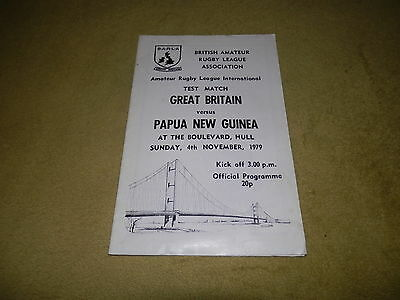 Great Britain v Papua New Guinea - Amateur Rugby League at Hull in 1979