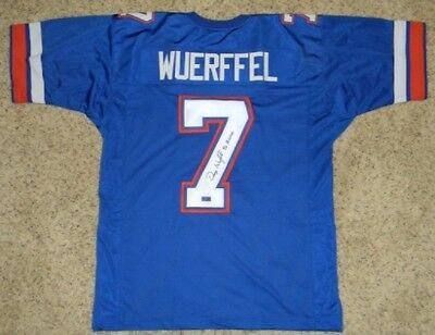 Danny Wuerffel Autographed Signed Florida Gators #7 Jersey W/ 96 Heisman
