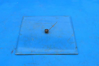 antique thermometer square beveled glass