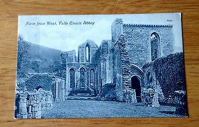 Postcard – Wales - Nave From West, Valle Crucis Abbey - Valentines
