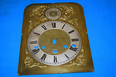 antique Westminster chime clock brass dial