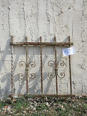 Antique Victorian Iron Gate Window Garden Fence Architectural Salvage #927