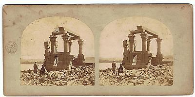 Stereoview - Views In Egypt & Nubia By Frith No 326 Wady Kardassy In Nubia