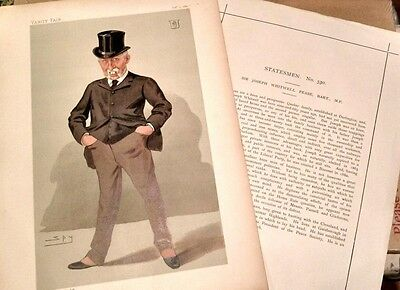 """Vanity Fair Original 1887""""by Spy"""" Peace """".and his History page.Super copy"""