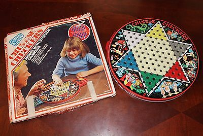 Vintage Chinese Checkers By Steven Lithograph Board Game Complete With Box