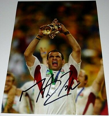 Martin Johnson England Rugby 2003 World Cup Personally Hand Signed 12X8 Photo