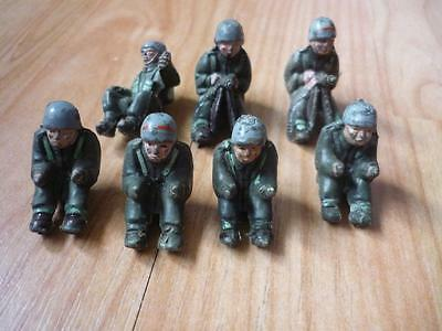 Vintage Lone Star Harvey Series  Bren Gun Carrier Driver & Gunner Figures x 7