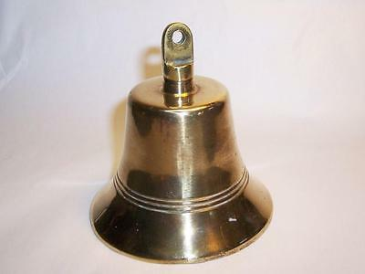 """Vintage Solid Heavy BRASS SHOP BELL - 3.75"""" High"""