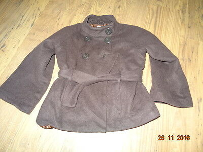 GIRLS NEXT WOOL COAT WITH WIDE SLEEVES age 9 -10 years IN VGC