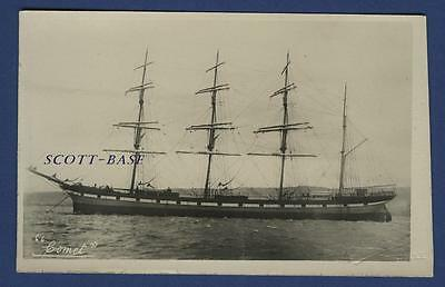 Sailing Ship Four Masted Barque Comet Robertson Gourock Card James Dollar Barge