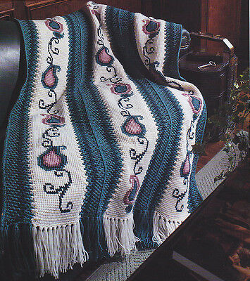 Crochet Pattern Paisley Perfection Afghan Instructions 289