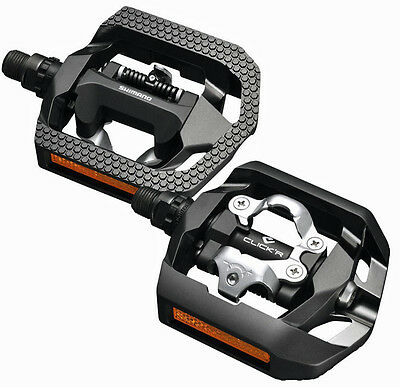 NEW 2017 Shimano Click'r Easy Release Trekking Dual Sided SPD Pedals: PD-T420