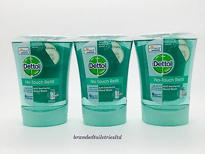 x3 Dettol No-Touch Hand Wash Refill Hydrating Cucumber Splash 250ml exp 11/17 !