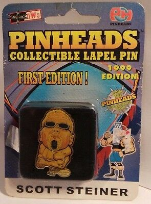 Pinheads - 1st edition - Wrestling Lapel Pin - Scott Steiner - sealed