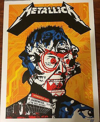 Metallica Webster Hall 9/27 New York City Nyc Poster Only 200 Rare Ames Bros Wow