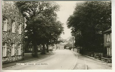 A Frith's Real Photo Post Card of The Village, Long Preston. West Yorkshire.