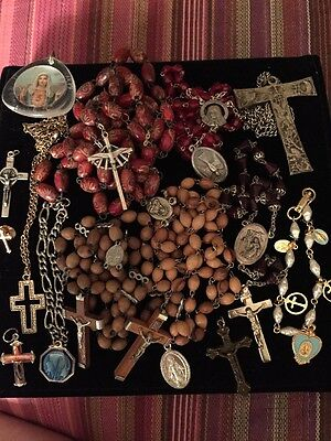 Rosary Beads & Religious Items Lot