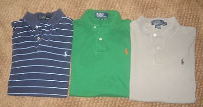 Polo Ralph Lauren Lot Of Three Mens Polo Shirts Size Small